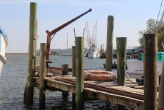 Valona docks, looking towards Patterson Island