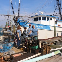 Aspiring anthropologists at Valona docks