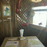 Table setting at Mr. Charlie's restaurant, The Fish Dock